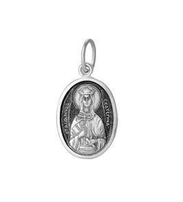 серебряный образок Екатерина