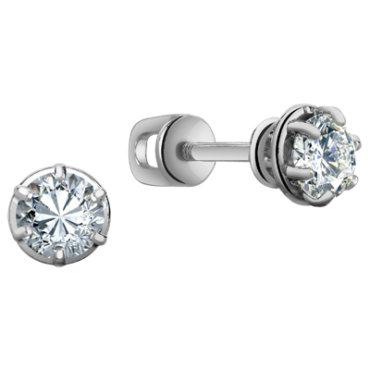 Серьги-гводики серебро