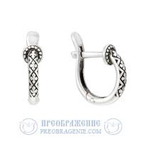 Серьги серебряные с крестиком