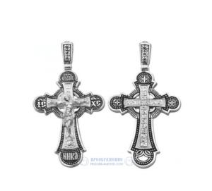 Мужской серебряный крест