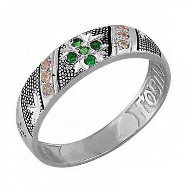 Православное серебряное кольцо