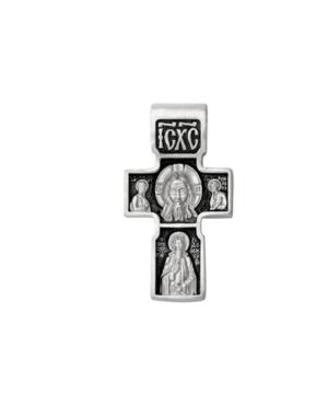 Серебряный мужской крест Сергий Радонежский