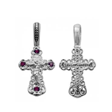 Серебряныц крестик с фианитами
