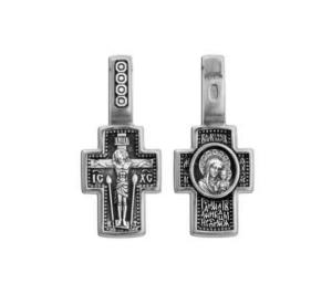 Серебряный крест Казанская икона