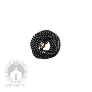 Чёрный шёлковый шнурок для крестика