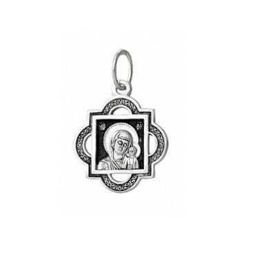 Серебряный образок Владимирская Божия Матерь