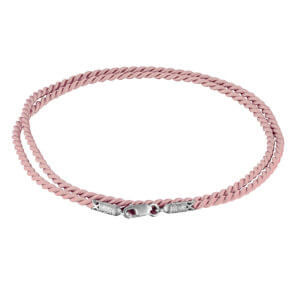 Розовый шнурок для крестика